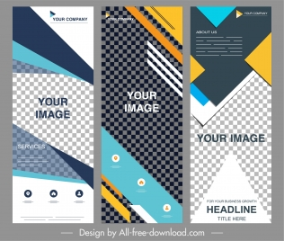 corporate banner templates colorful modern checkered abstract decor