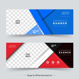 corporate banner templates colorful modern geometric checkered decor
