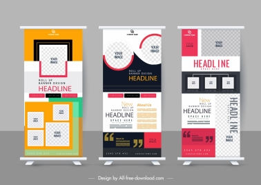 corporate banner templates colorful vertical modern abstract decor