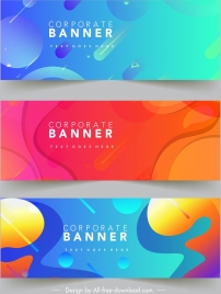 corporate banner templates contemporary colorful decor abstract theme
