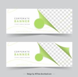 corporate banner templates elegant bright checkered