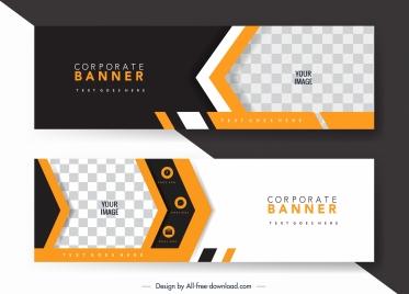 corporate banner templates elegant checkered arrow decor