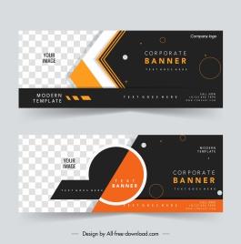 corporate banner templates elegant checkered horizontal design