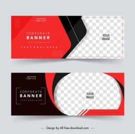 corporate banner templates elegant contrast checkered decor