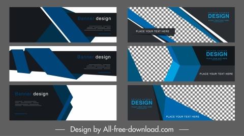 corporate banner templates elegant dark 3d technology decor