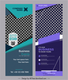 corporate banner templates elegant modern checkered decor