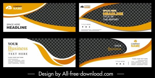 corporate banner templates elegant modern design checkered decor
