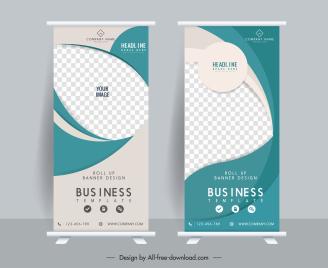 corporate banner templates elegant modern standee design