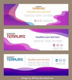 corporate banner templates horizontal design modern abstract decor