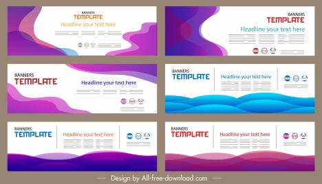 corporate banner templates horizontal design modern colorful abstraction