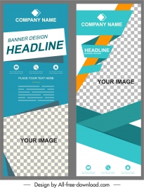 corporate banner templates modern abstract checkered decor