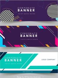 corporate banner templates modern abstract flat geometric decor