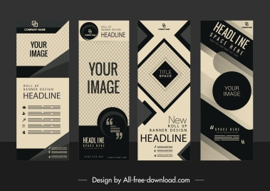 corporate banner templates modern abstract technology decor