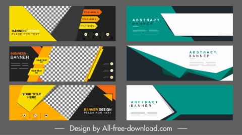 corporate banner templates modern abstract technology horizontal design