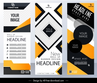 corporate banner templates modern abstract technology vertical design