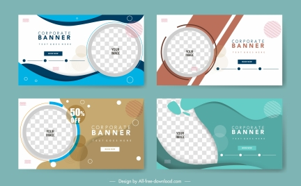 corporate banner templates modern checkered abstract decor