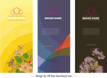 corporate banner templates modern classic flora abstract decor