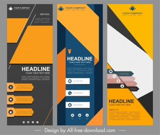 corporate banner templates modern colorful dark vertical design