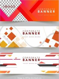 corporate banner templates modern colorful geometric decor