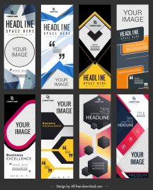 corporate banner templates modern colorful vertical shape