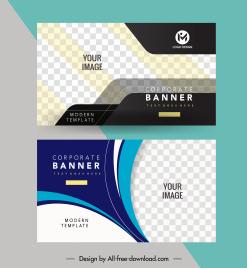 corporate banner templates modern elegant checkered decor