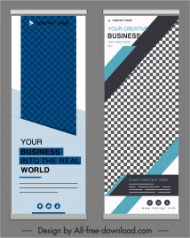 corporate banner templates modern elegant vertical modern checkered
