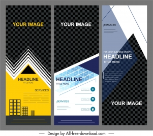 corporate banner templates modern geometric technology decor