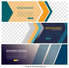 corporate banner templates modern horizontal design