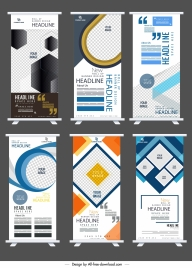 corporate banner templates modern rolled up standee design