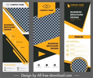corporate banner templates standee shape modern abstract decor