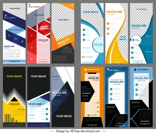 corporate banners collection modern vertical technology decor
