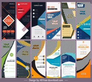 corporate banners templates collection colorful modern abstract decor