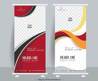 corporate banners templates elegant modern standee shape design