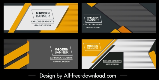 corporate banners templates modern abstract horizontal design