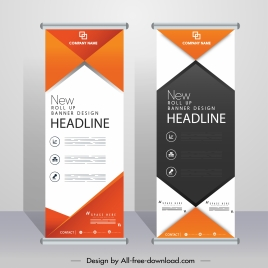 corporate banners templates modern elegant roll up design