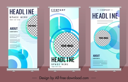 corporate banners templates modern flat checkered vertical design