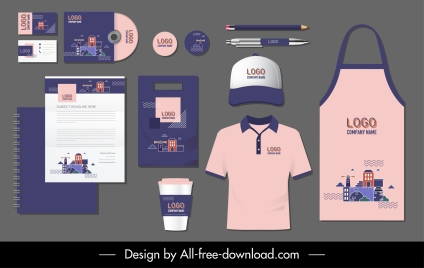 corporate branding identity sets landscape decor classic design