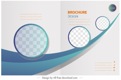 corporate brochure template checkered circles dynamic decor