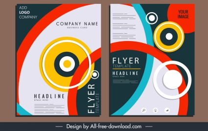 corporate brochure template colorful circles illusion decor