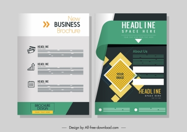 corporate brochure template colorful contemporary decor