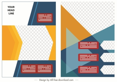 corporate brochure template colorful modern abstract geometric checkered