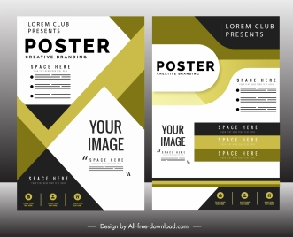 corporate brochure template colorful modern abstract layout