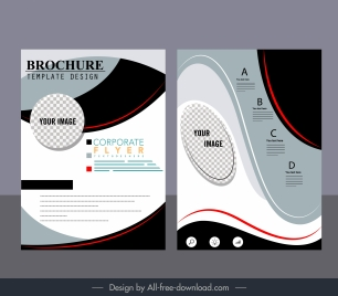 corporate brochure template modern colorful abstract decor