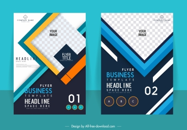 corporate brochure templates colorful modern checkered decor