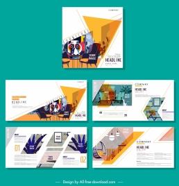 corporate brochure templates furniture decor colorful classic