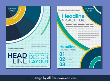 corporate brochure templates modern colorful flat abstract decor