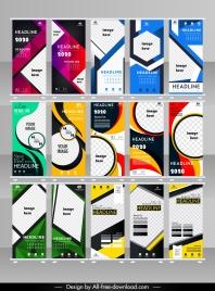 corporate brochure templates modern colorful flat decor