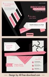 corporate brochure templates modern dark abstract decor