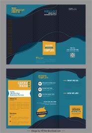 corporate brochure templates modern dark trifold design