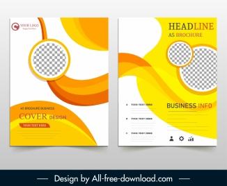 corporate brochure templates modern dynamic checkered decor